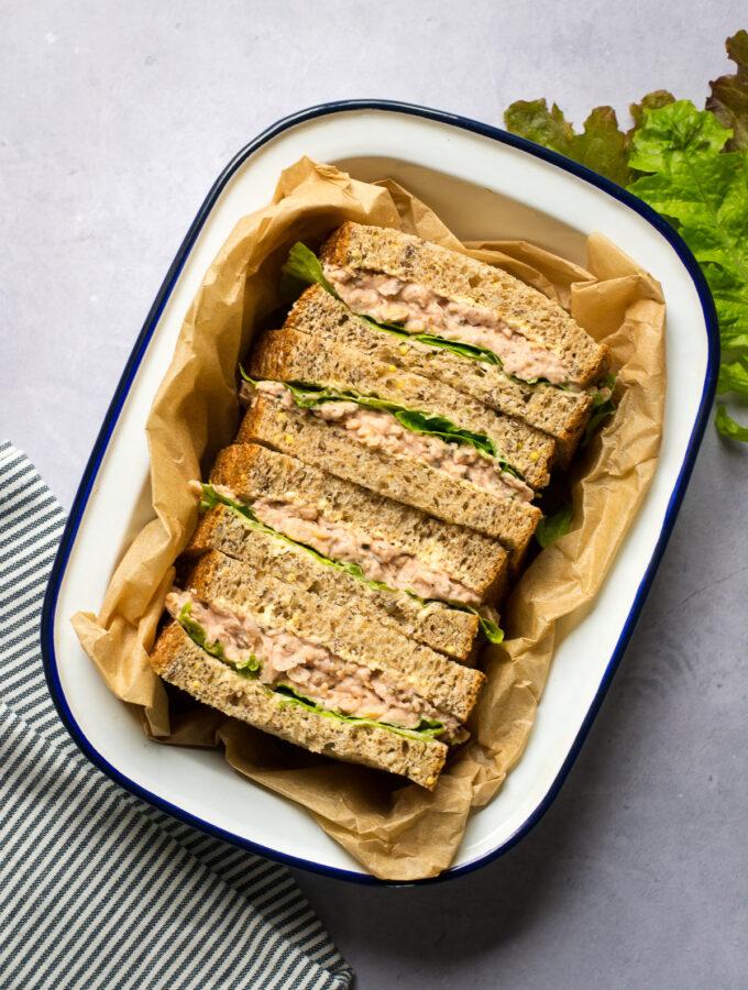 Vegan Tuna Mayonnaise Sandwiches