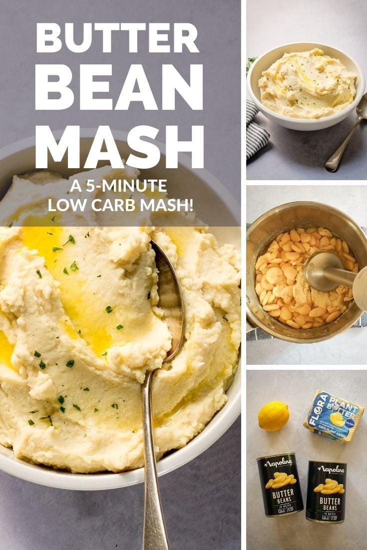 Pinterest pin for Butter Bean Mash recipe